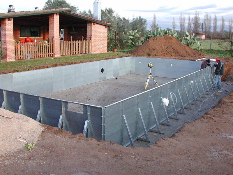 piscina interrata in pannello