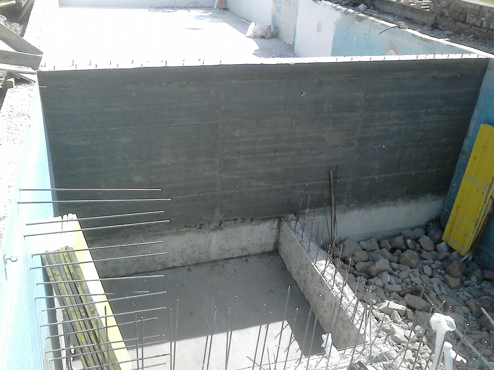 Ristrutturazione piscina anni 39 60 - Costruzione piscina in cemento armato ...