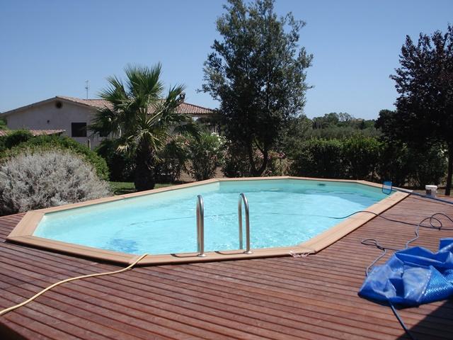 installazione piscina in legno