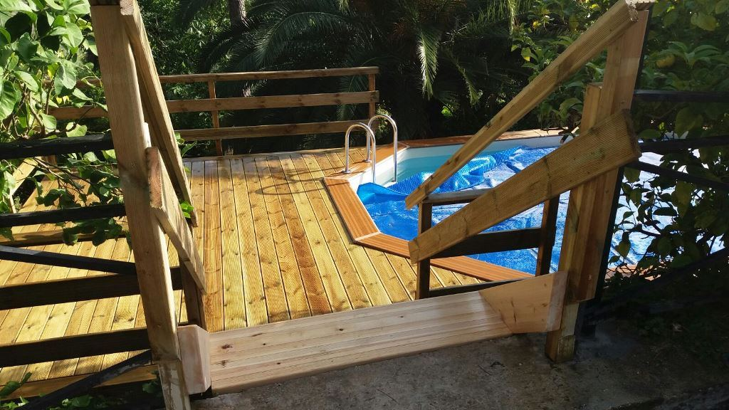 piscina fuoriterra legno economica roma latina