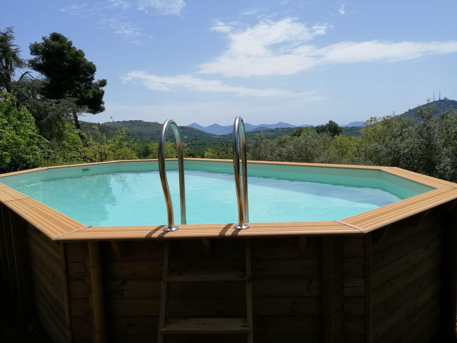 piscina in legno fuori terra