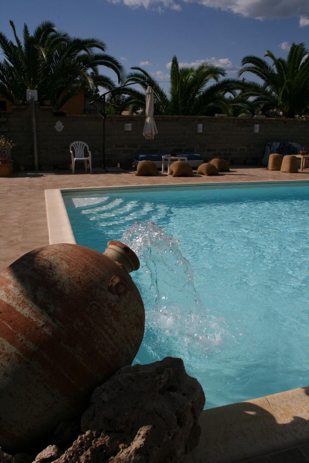 piscina con gioco d'acqua