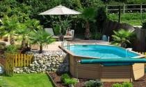 piscina fuoriterra in legno Roma
