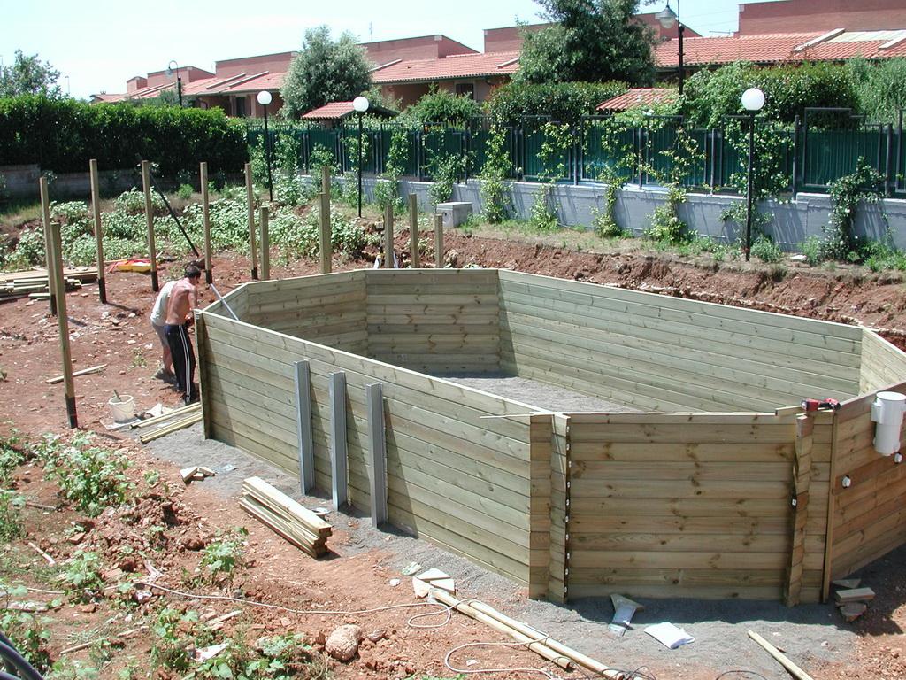Piscine fuori terra in legno a roma e latina