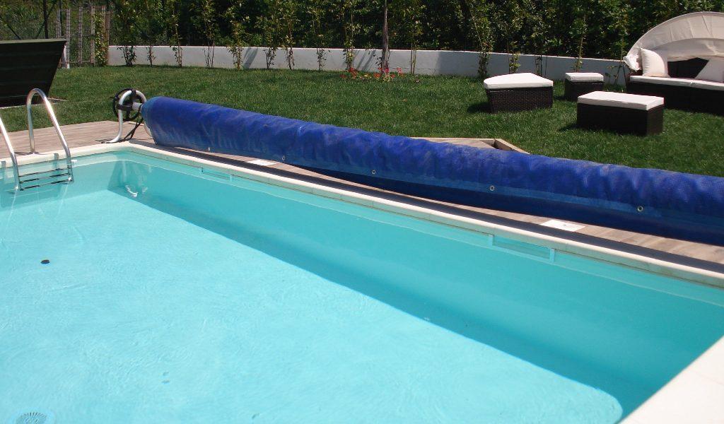 piscina in pannello di acciaio