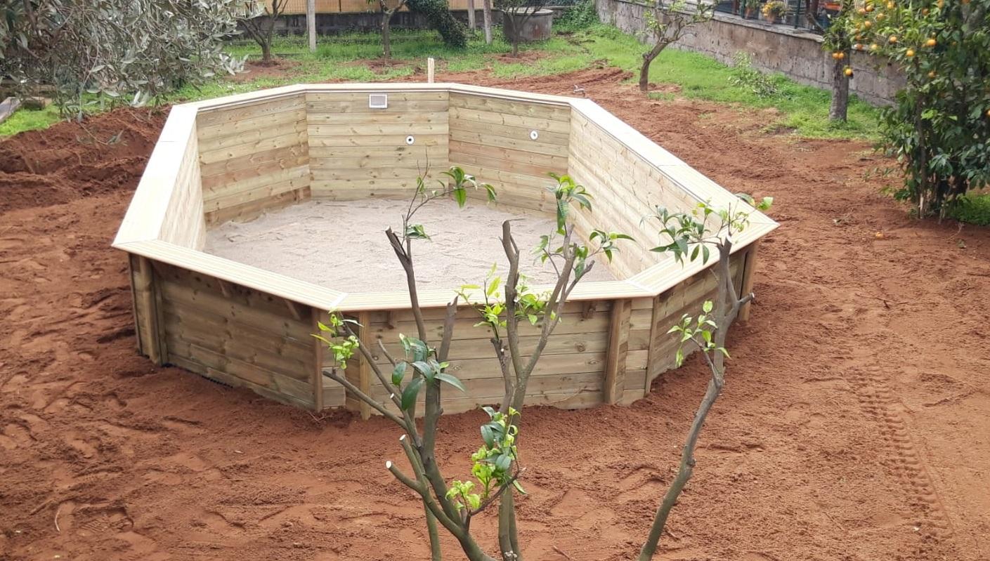 Montaggio di una piscina in legno Odyssea
