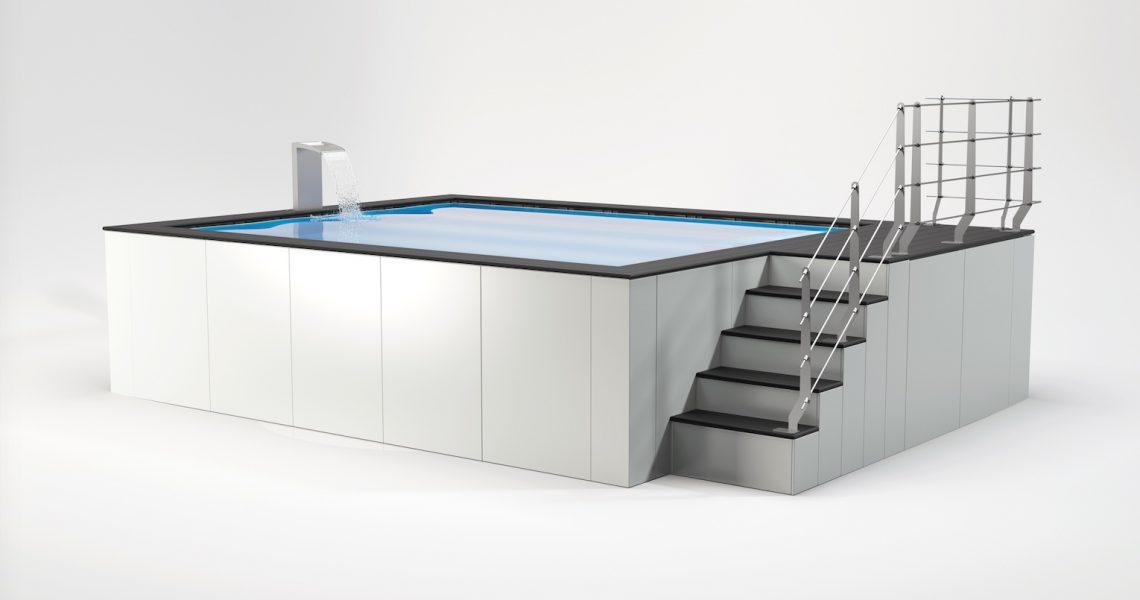 piscina fuori terra in acciaio senza cemento